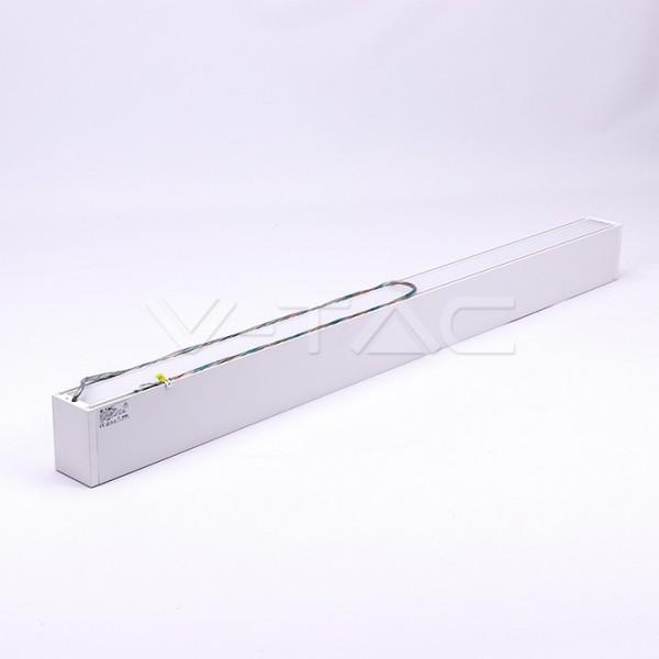 Corp de iluminat cu LED interconectabil suspendat 60W CIP SAMSUNG 120cm Slim Alb Neutru Corp Alb - iluminare sus/jos