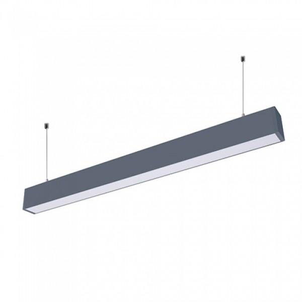 Corp de iluminat cu LED interconectabil suspendat 60W CIP SAMSUNG 120cm Slim Alb Neutru Corp Negru - iluminare sus/jos