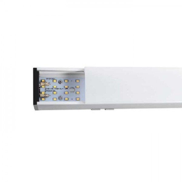 Corp de iluminat cu LED interconectabil suspendat dimabil 40W CIP SAMSUNG 120cm Alb Neutru Corp Alb