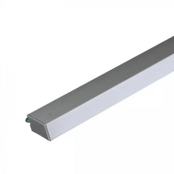 Corp de iluminat cu LED interconectabil suspendat 40W CIP SAMSUNG 120cm Alb Rece Corp Argintiu