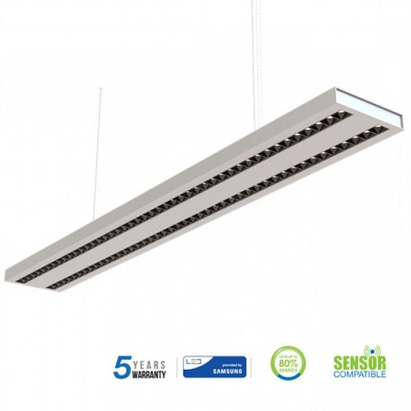 Corp de iluminat cu LED interconectabil suspendat 60W CIP SAMSUNG 120cm Alb Neutru Corp Argintiu - iluminare sus/jos