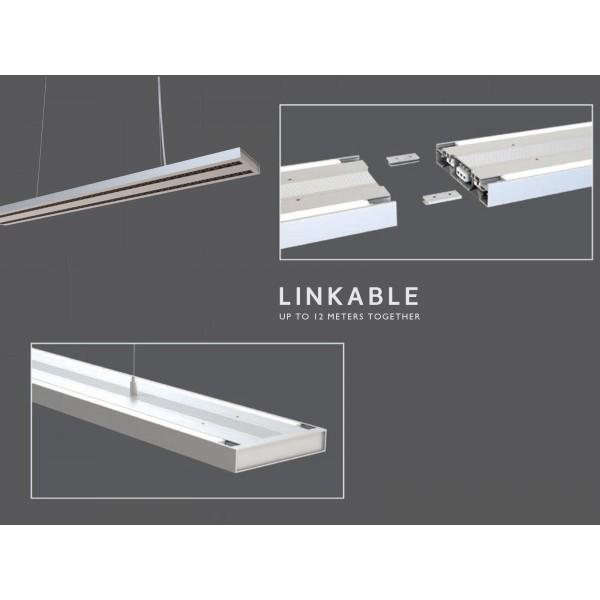Corp de iluminat cu LED interconectabil suspendat 60W CIP SAMSUNG 120cm Alb Neutru Corp Alb - iluminare sus/jos