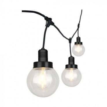 Ghirlanda luminoasa etansa 3m cu 6 bulbi soclu E27