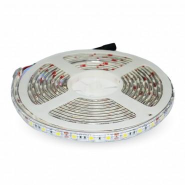 Banda LED SMD5050 30 LED IP65 Alb Cald