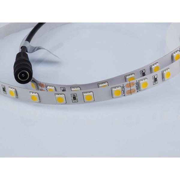 Banda LED SMD5050 60 LED 24V IP20 Alb Cald