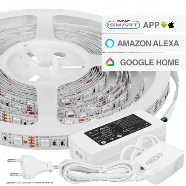 Set Banda LED SMART 10W RGBW si Controler WIFI compatibil cu Alexa & Google Home