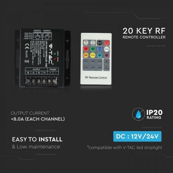 Controler cu Telecomanda pentru Banda LED RGB 20 de butoane