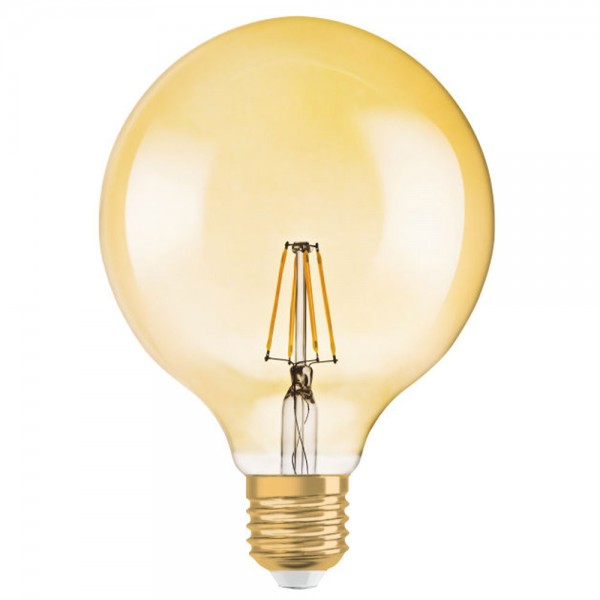 Bec LED Filament 7.5W E27 Dimabil Glob Osram Vintage Amber - lumina calda