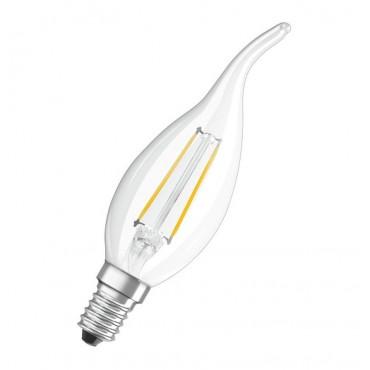 Bec LED Filament 4W E14 Lumanare Flacara Osram Alb Cald