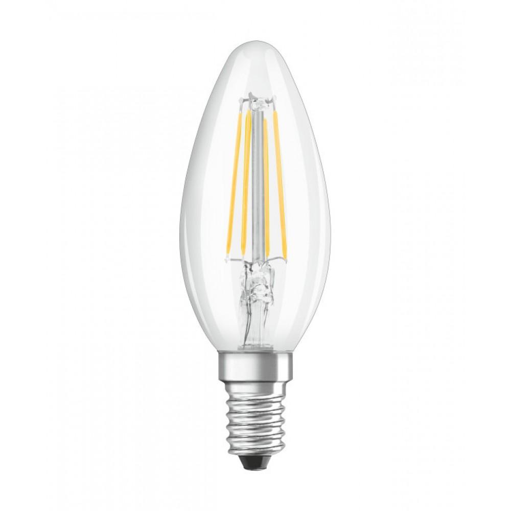 Bec LED Filament 4W E14 Lumanare Osram Alb Cald