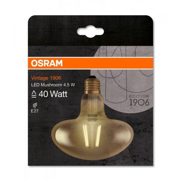 Bec LED Filament 4.5W E27 Ciuperca Osram Vintage Alb Cald