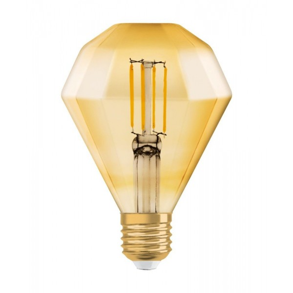 Bec LED Filament 4.5W E27 Diamant Osram Vintage Alb Cald