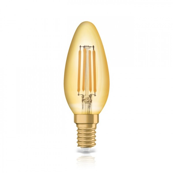 Bec LED Filament 4.5W E14 Lumanare Osram Vintage Alb Cald