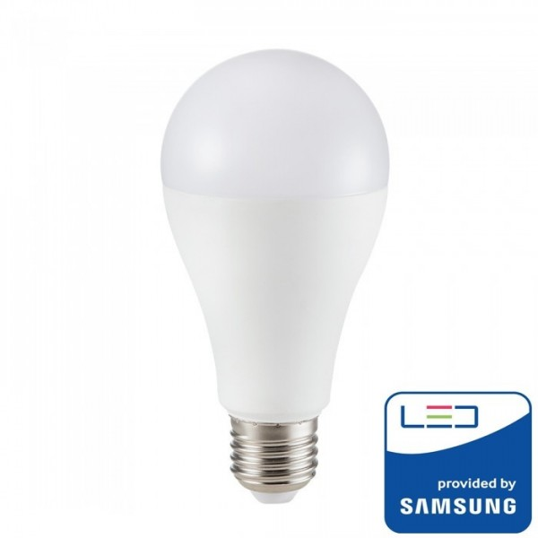 Bec LED 15W E27 A65 Cip SAMSUNG Alb Rece