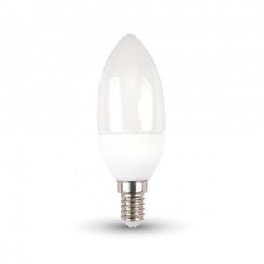 Bec LED 5.5W E14 Tip Lumanare Samsung Chip Alb Cald