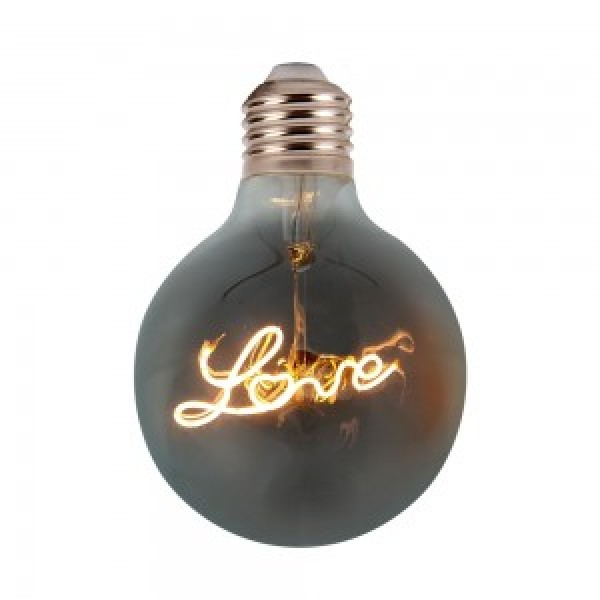 Bec LED 5W E27 Filament LOVE G125 fumuri...