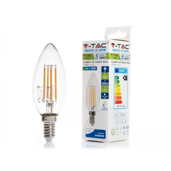 Bec LED 4W E14 Cip SAMSUNG Lumanare Alb Cald