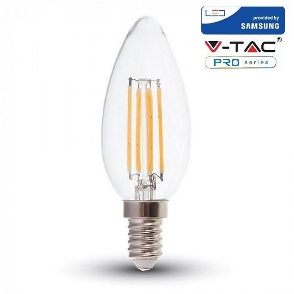 Bec LED 4W E14 Cip SAMSUNG Lumanare Alb ...