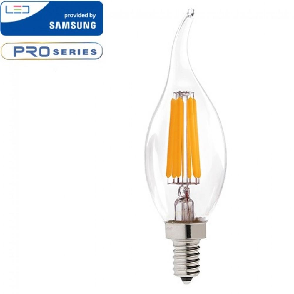 Bec LED 4W E14 Cip SAMSUNG Lumanare Flacara Alb Cald