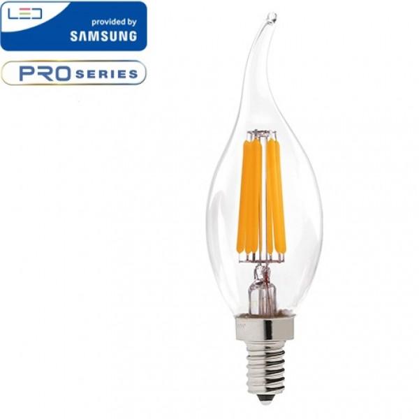 Bec LED 4W E14 Cip SAMSUNG Lumanare Flac...