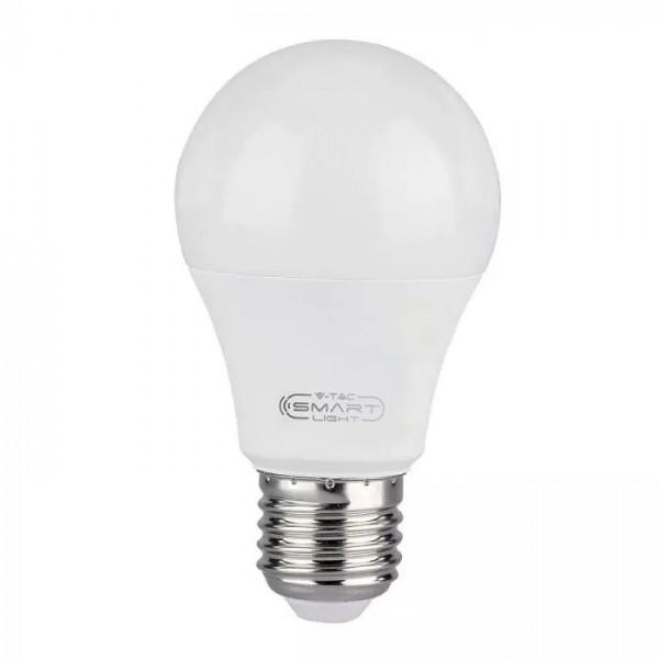 Bec LED smart 10W E27 compatibil cu Google Home si Amazon Alexa RGB-WW-CW