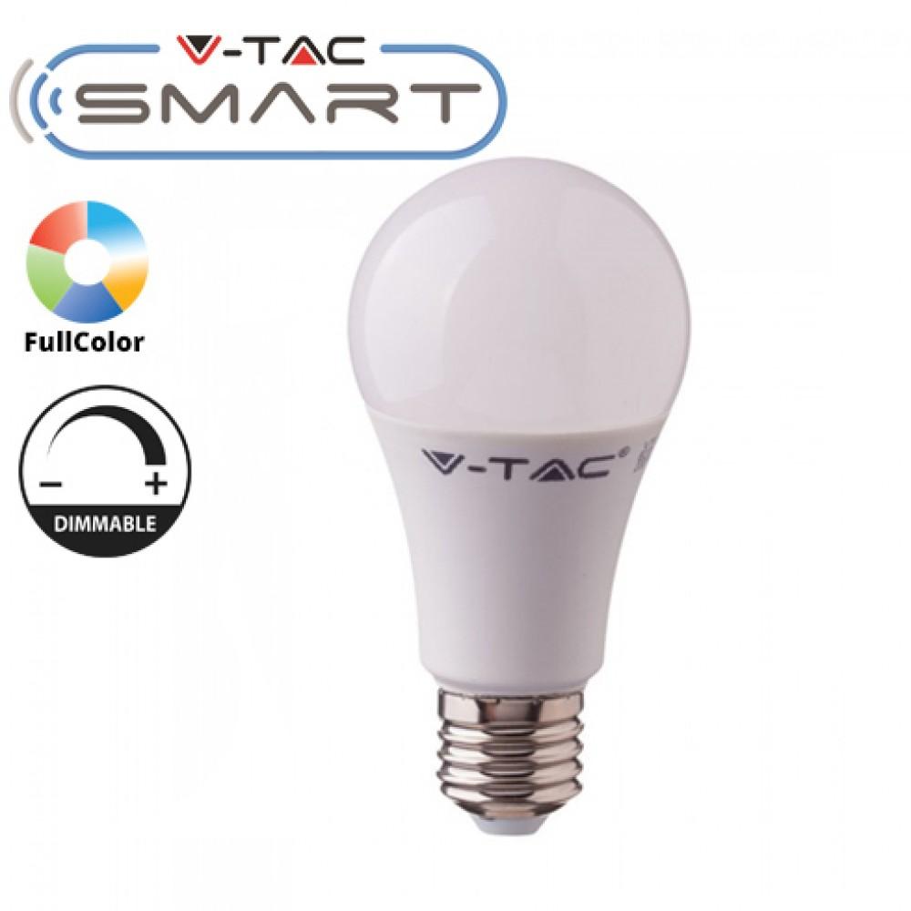 Bec LED smart 11W E27 compatibil cu Google Home si Amazon Alexa RGB-WW-CW