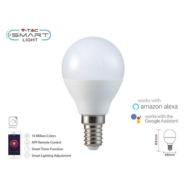 Bec LED smart 4.5W E14 P45 compatibil cu...