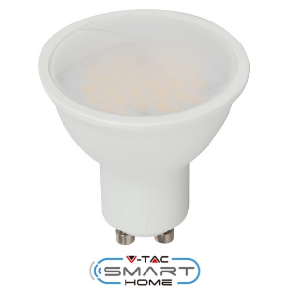 Bec spot LED smart 4.5W GU10 compatibil cu Google Home si Amazon Alexa RGB-WW-CW