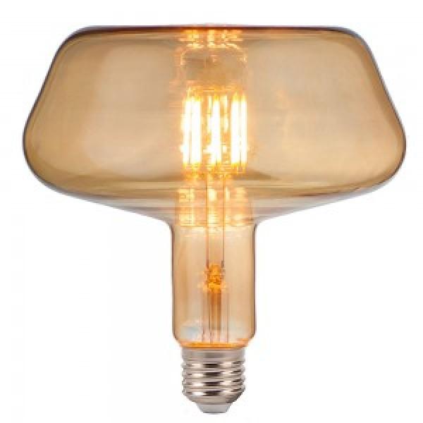 Bec LED 8W E27 Filament T180 chihlimbar
