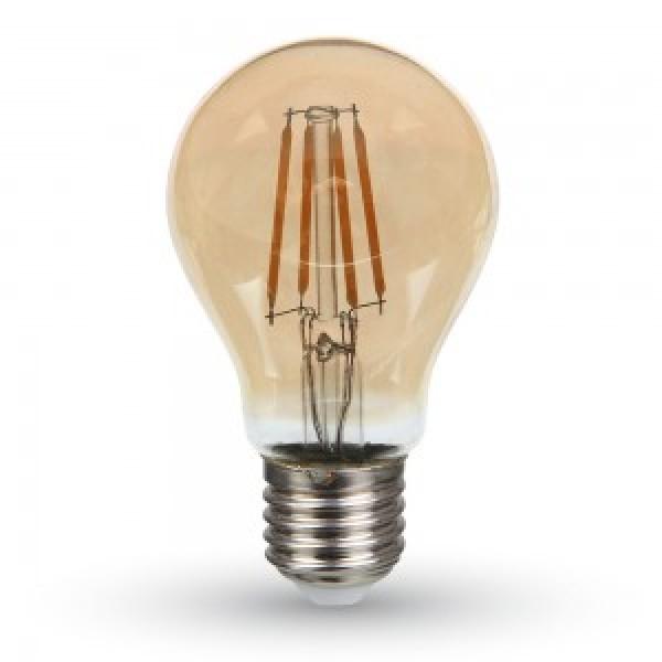 Bec LED 4W E27 A60 Filament Alb Cald...