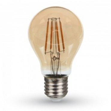 Bec LED Samsung Chip 6W E27 A60 Filament Alb Cald Chihlimbar