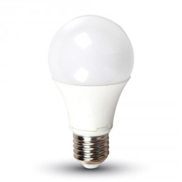 Bec LED 9W E27 A60 Termoplastic Alb Rece