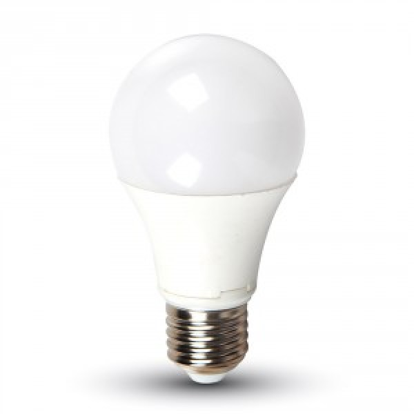 Bec LED 9W E27 A60 Termoplastic Alb Cald