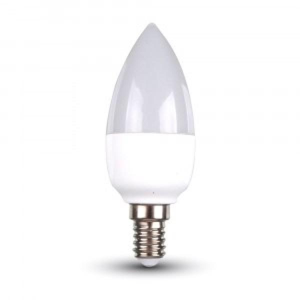 Bec LED 6W E14 Lumanare Alb Neutru