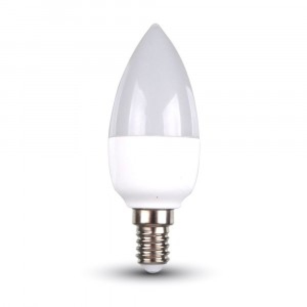 Bec LED 6W E14 Lumanare Alb Re...