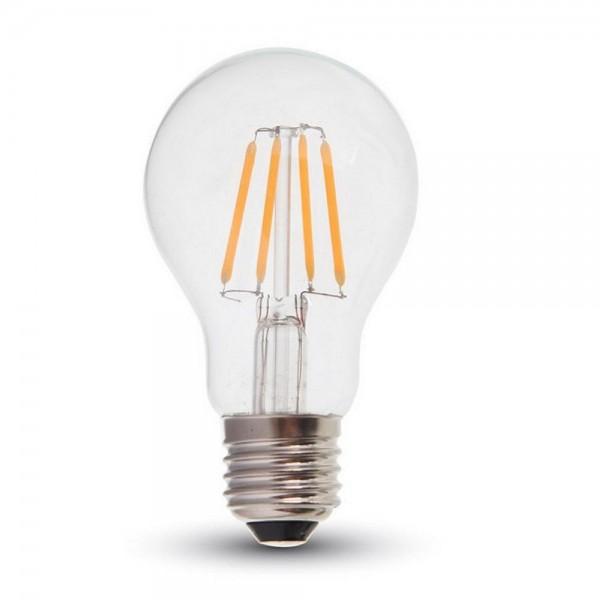 Bec LED 4W E27 A60 Filament Alb Cald