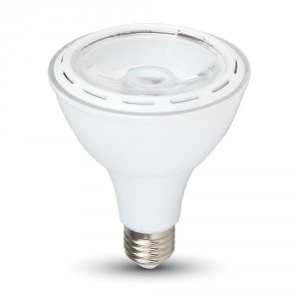 Bec LED E27 12W PAR30 Alb Rece