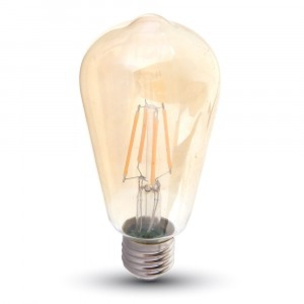 Bec LED Filament 6W E27 Amber ST64 - lumina calda