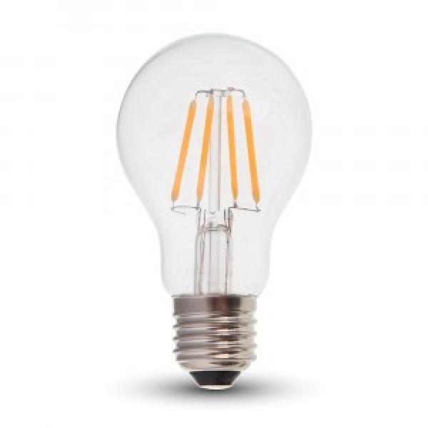 Bec LED Filament 4W E27 Dimabil Alb Cald