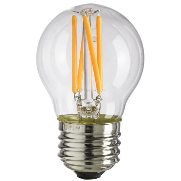 Bec LED Filament 4W E27 G45 Dimabil Alb Cald