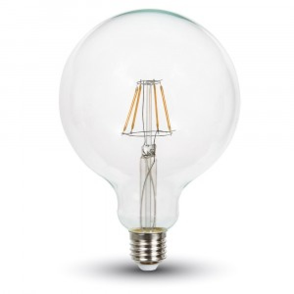 Bec LED Filament 4W E27 Dimabil G125 - lumina calda
