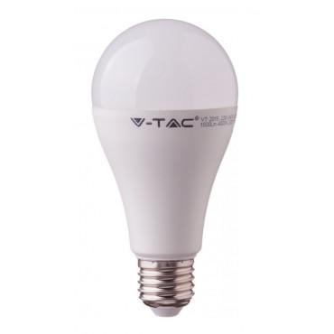 Bec LED 17W E27 A65 Termoplastic Alb Cald