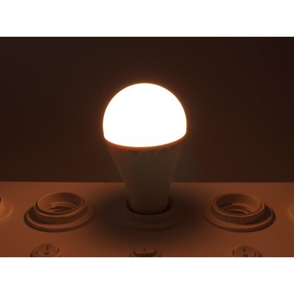 Bec LED 15W E27 A65 Termoplastic Alb Cald