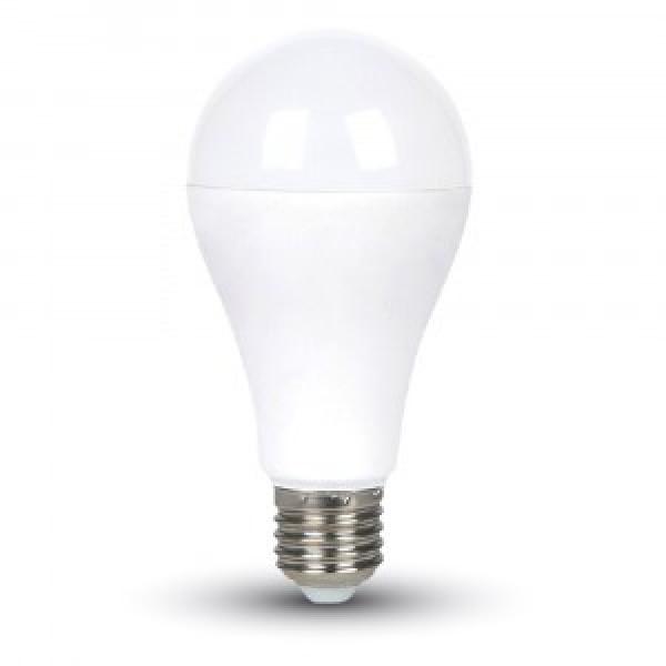 Bec LED 15W E27 A65 Termoplastic Alb Rece