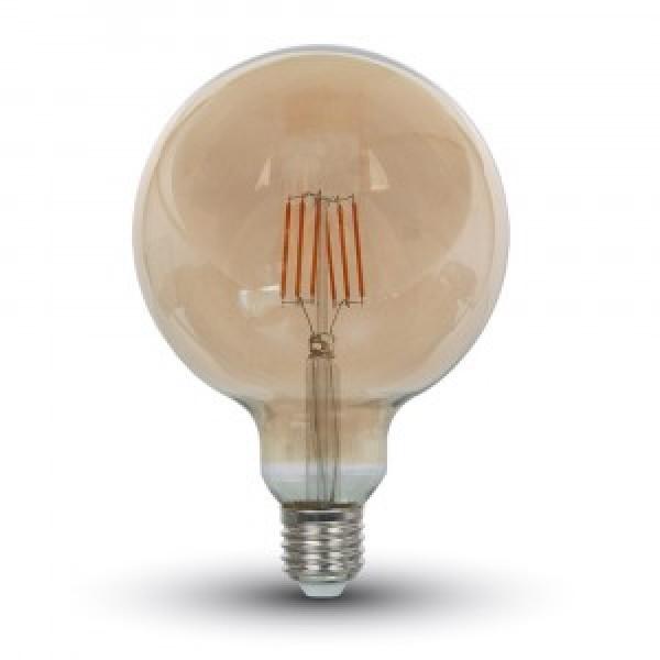 Bec LED Filament 6W E27 Amber G125 - lum...