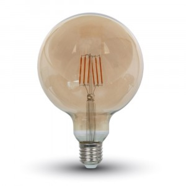 Bec LED Filament 6W E27 Amber G125 - lumina calda