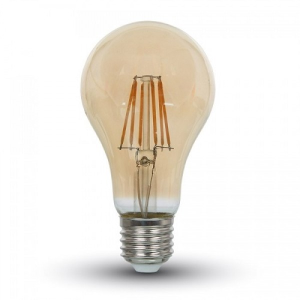Bec LED Filament 4W E27 Amber ...