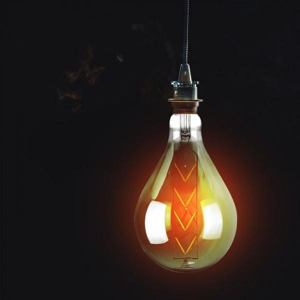 Bec LED 8W E27 Filament G165 fumuriu
