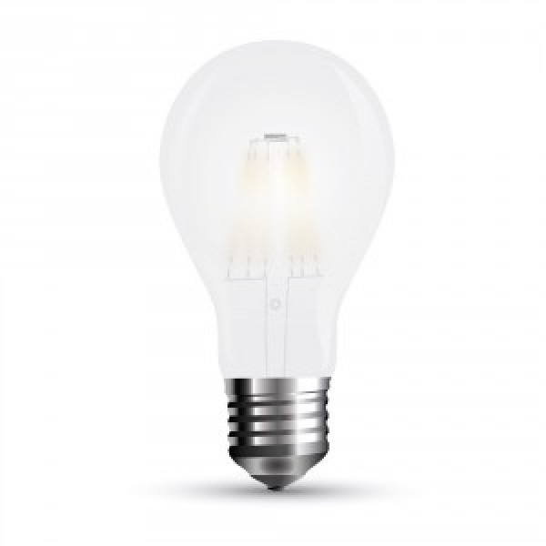 Bec LED 10W Filament E27 A67 Mat Alb Cald