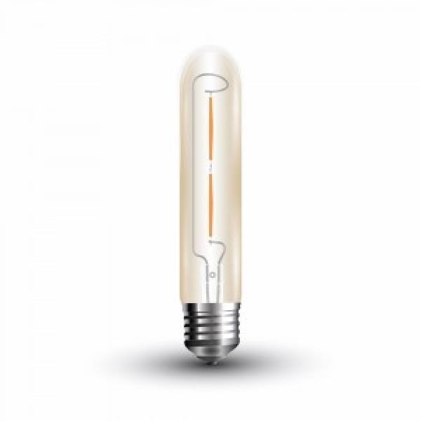 Bec LED Filament 2W E27 T30 Amber Alb Ca...